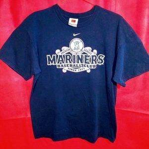 Nike Navy Blue Mariners T-Shirt